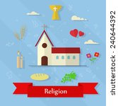set of religious elements.... | Shutterstock .eps vector #240644392