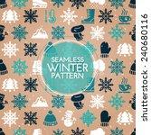 seamless winter pattern   Shutterstock .eps vector #240680116