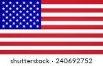 american flag vector | Shutterstock .eps vector #240692752