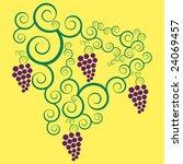 grapes in vector format   Shutterstock .eps vector #24069457