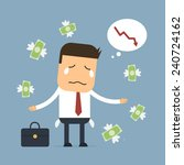 businessman loss money vector... | Shutterstock .eps vector #240724162