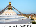 Boudhanath Stupa, in Kathmandu, Nepal - stock photo