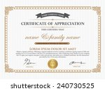 vintage certificate and thai... | Shutterstock .eps vector #240730525