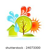nature abstraction | Shutterstock .eps vector #24073300