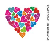 hearts. vector illustration. | Shutterstock .eps vector #240733936
