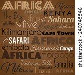 africa. vintage vector...   Shutterstock .eps vector #240745546