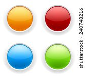 four glossy round button on... | Shutterstock .eps vector #240748216