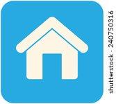 home  modern flat icon   Shutterstock .eps vector #240750316