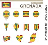 grenada flag collection  12... | Shutterstock .eps vector #240766828