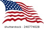 waving american stars and... | Shutterstock .eps vector #240774028