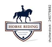 Stock vector horse riding logo design 240778882