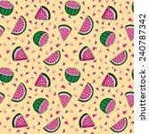 seamless vector repeat pattern... | Shutterstock .eps vector #240787342