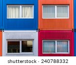 Container Homes In Red  White ...