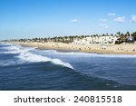 A Panorama Of The Shoreline An...