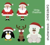 abstract cute merry christmas... | Shutterstock .eps vector #240818692