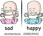 sad and happy | Shutterstock .eps vector #240819442
