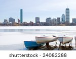 Boats On Frozen Charles River...