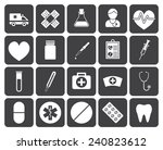 medical icons  modern flat... | Shutterstock .eps vector #240823612