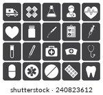 medical icons  modern flat... | Shutterstock .eps vector #240823612