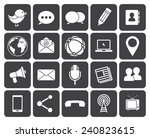 media and communication icons ... | Shutterstock .eps vector #240823615