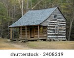 Cades Cove - Carter Shields Cabin - stock photo