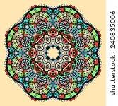 mandala vector. stylized indian ...   Shutterstock .eps vector #240835006