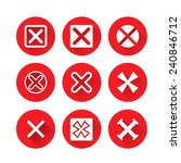 x symbols  rejected mark icons... | Shutterstock .eps vector #240846712