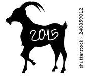 goat shadow new year | Shutterstock .eps vector #240859012