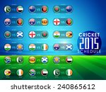 cricket match 2015 schedule... | Shutterstock .eps vector #240865612