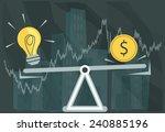 creative idea valuation  ... | Shutterstock .eps vector #240885196