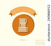 books tower icon. education sign | Shutterstock .eps vector #240886912