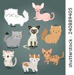 cat vector set | Shutterstock .eps vector #240889405
