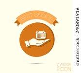 hand holding a calendar sign | Shutterstock .eps vector #240891916