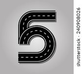 Number 5 Letter. Street Font....