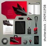 stationery set design geometric ... | Shutterstock .eps vector #240911938