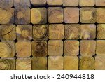 building materials  stacked 4x4 ... | Shutterstock . vector #240944818