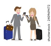 young businessman and woman...   Shutterstock .eps vector #240969472