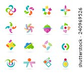 abstract icons vector design... | Shutterstock .eps vector #240969526