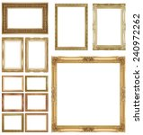 gold  picture frame isolated on ... | Shutterstock . vector #240972262