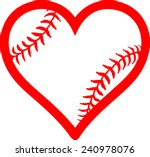 red heart with baseball laces....