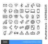 communication thick line icons | Shutterstock .eps vector #240986035