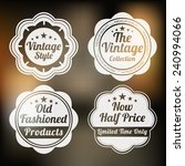set of four retro label for... | Shutterstock .eps vector #240994066