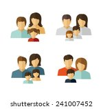family vector flat icon  | Shutterstock .eps vector #241007452