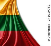 lithuania flag and white... | Shutterstock . vector #241019752