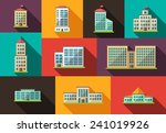 set of flat design buildings... | Shutterstock . vector #241019926