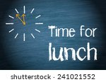 time for lunch   blue... | Shutterstock . vector #241021552