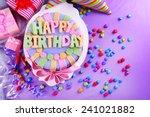 Delicious Birthday Cake On...