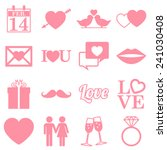 valentines day icons   flat...