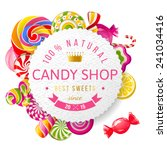 paper candy shop label with... | Shutterstock .eps vector #241034416