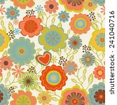 vintage seamless floral pattern | Shutterstock .eps vector #241040716
